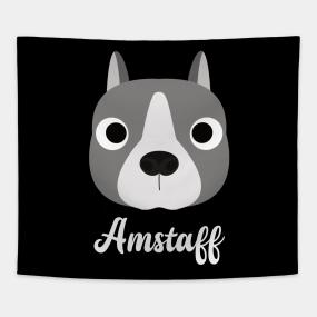 American Staffordshire Terrier Puppy Tapestries | TeePublic