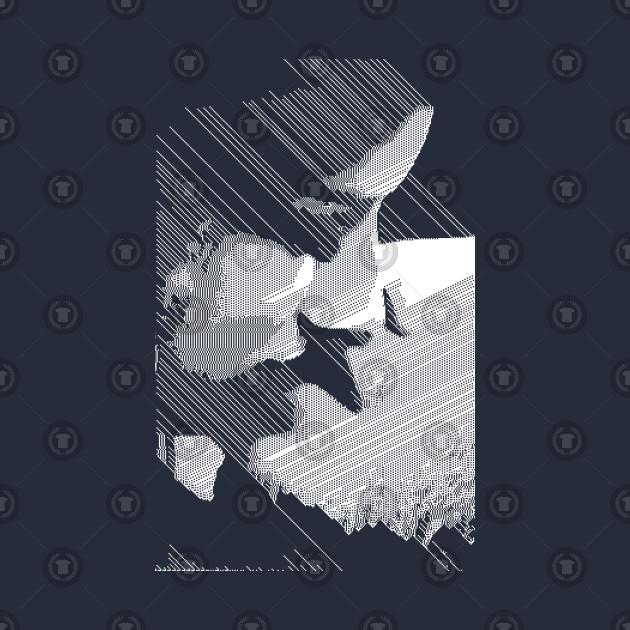 Digital Glitch Contemporary Kissing Artwork ∆∆