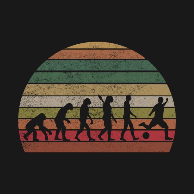 Vintage Soccer T-Shirt Evolution T-shirt