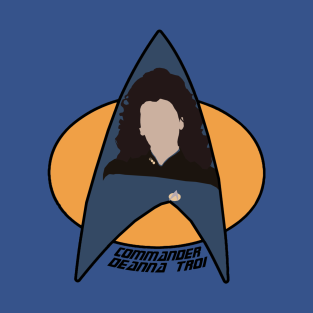 Commander Troi t-shirts