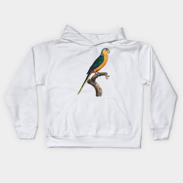 Realistic Colorful Parrot Hipster - Parrot - Kids Hoodie  b2e74d44d