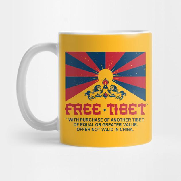 FREE TIBET * WITH PURCHASE OF ANOTHER TIBET - Dalai Lama - Mug ...