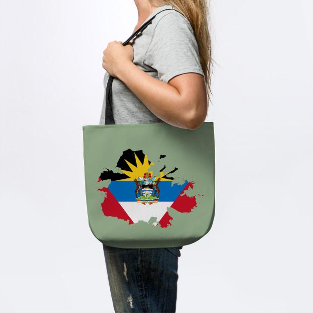 Antigua and Barbuda Map Flag