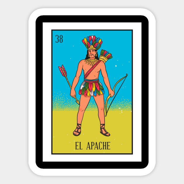 El Apache Loteria Spanish Indian Mexico Card game short sleeve men/'s tee shirt