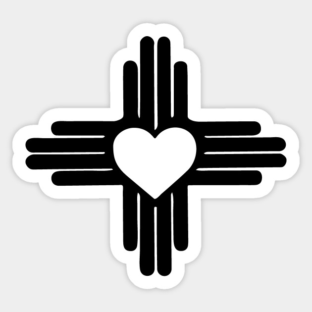 Zia With Heart Symbol New Mexico State Flag Zia Sticker