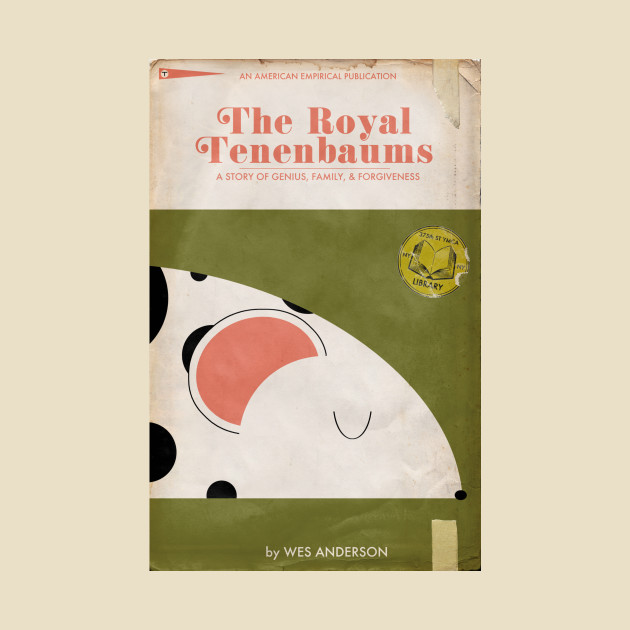 The Royal Tenenbaums Book Cover Tee