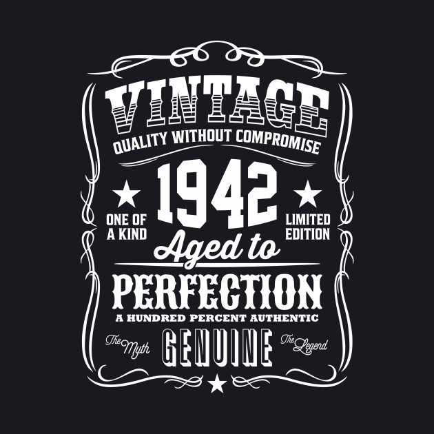 Vintage 1942 Aged to Perfection