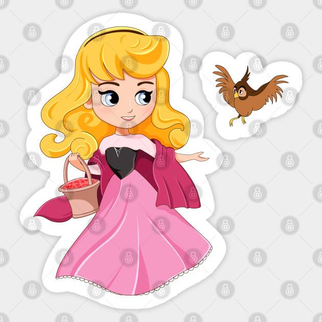Sleeping Beauty Aurora Chibi Fanart Disney Princesses Princess