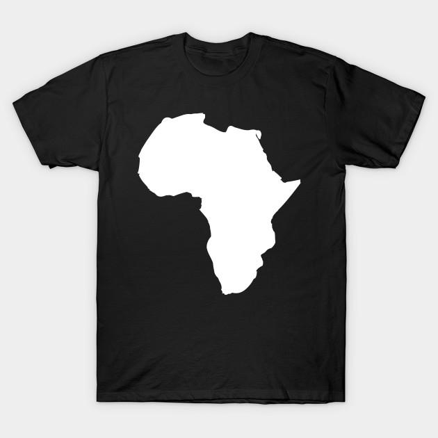 White Africa Map   Africa   T Shirt | TeePublic