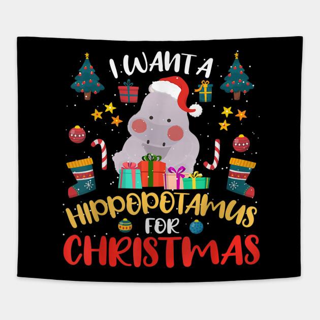 Hippo For Christmas.I Want A Hippopotamus For Christmas Hippo Xmas Tshirt