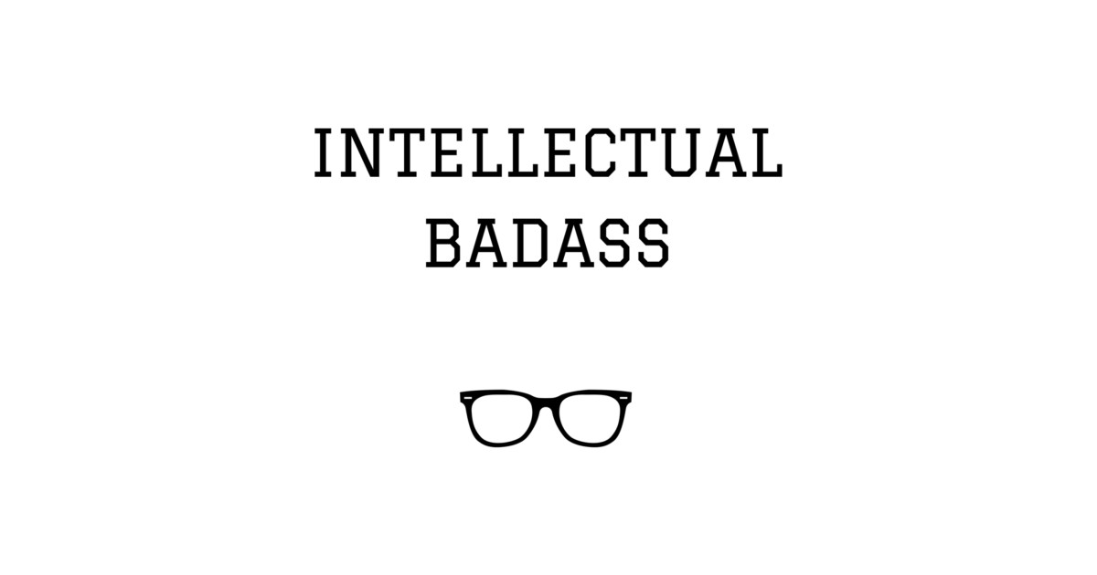 intellectual badass college hoodie teepublic