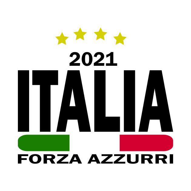 Forza Azzurri Italia 2021 Football Funs Italy Flag