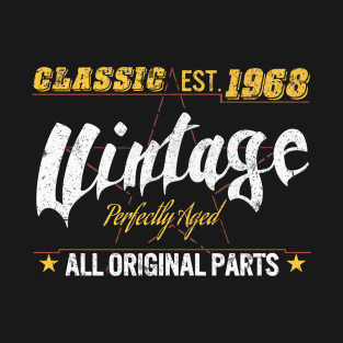 50th Birthday Tshirt Classic 1968 Shirt Gift Idea T