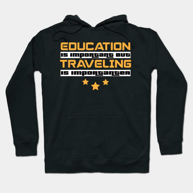 Adult Hoodie L Black Education Is Important But Baseball Is Importanter