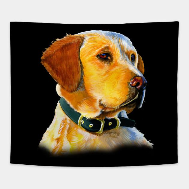 Full Face Golden Retriever Dog Golden Retriever Dog Tapestry