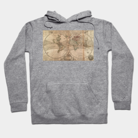 Maps hoodies teepublic vintage map of the world 1709 hoodie gumiabroncs Image collections