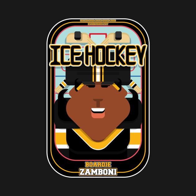 Ice Hockey Black and Yellow - Boardie Zamboni - Aretha version.