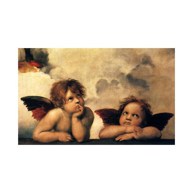 Sistine Madonna Angels by Rapahel