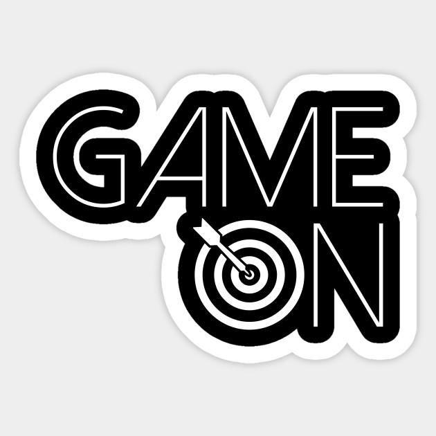 Game On Darts Darts Sticker Teepublic