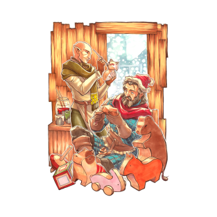 Winter Warmers: The Elf and the Toymaker t-shirts