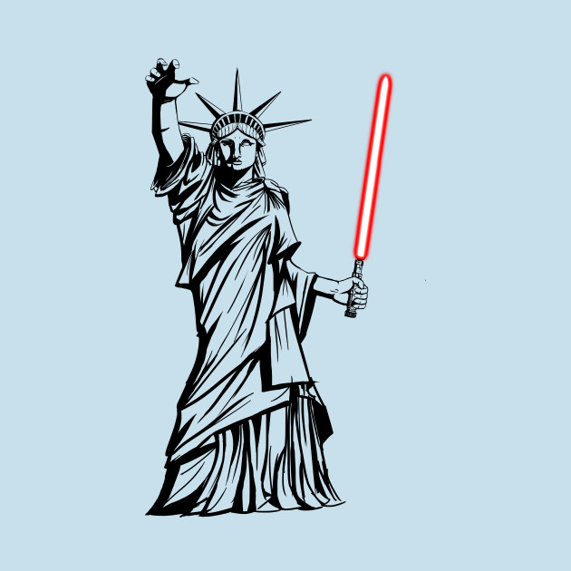 Sith Statue of Liberty (red lightsaber) T-Shirt