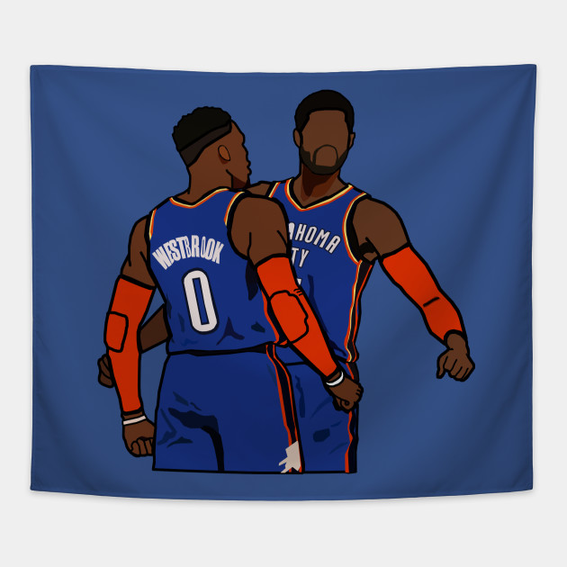 hot sale online 6242f 39816 Russell Westbrook and Paul George - NBA Oklahoma City Thunder