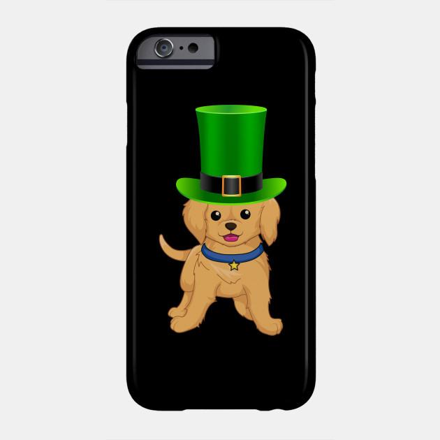 Golden Retriever St Patrick's Day Green Irish Leprechaun Hat - Gift For Golden Retriever Owner Puppy,Saint Patrick's Day, Irish,Ireland ,Leprechaun,Hat Lover Phone Case