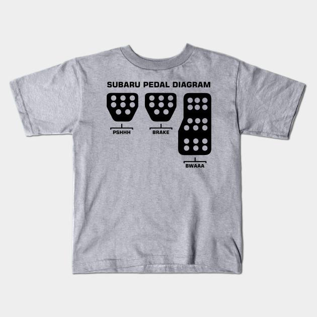 Subaru Pedal Diagram Subaru Pedal Diagram Kids T Shirt Teepublic