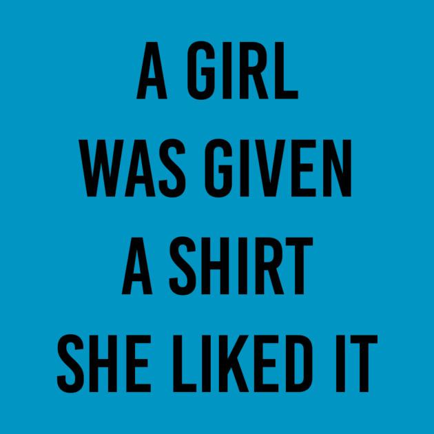 shirt gift to girl