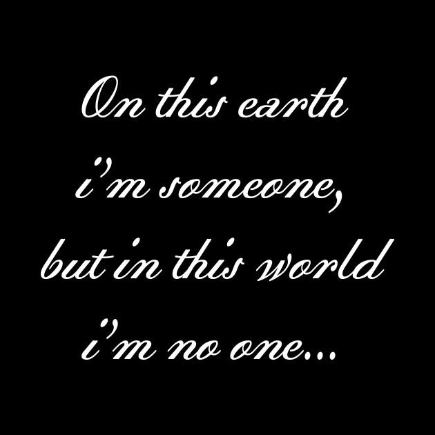i'm no one