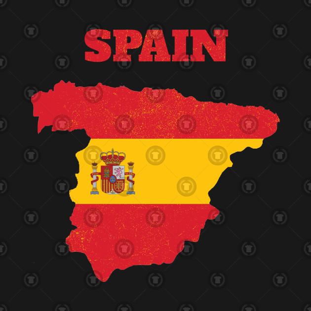 Kids Map Of Spain.Spain Map Spain Flag