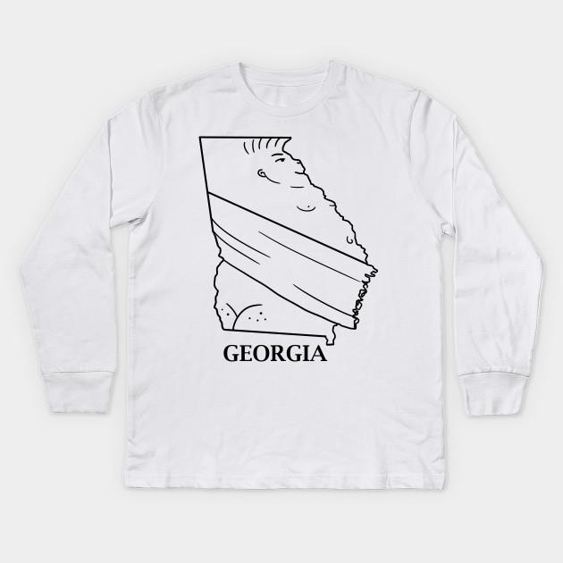 Map Of Georgia For Kids.A Funny Map Of Georgia 2 Georgia Kids Long Sleeve T Shirt
