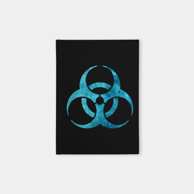 Blue Biohazard Symbol Biohazard Notebook Teepublic