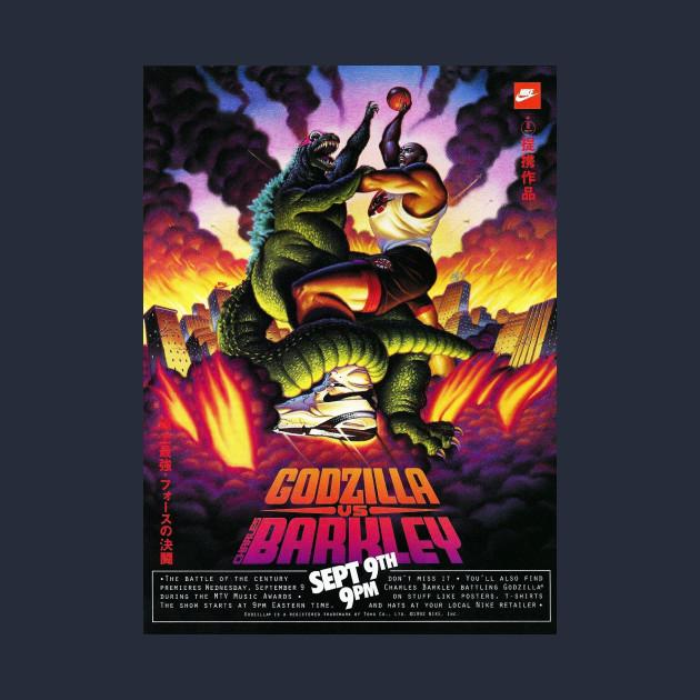 Godzilla Vs  Charles Barkley Poster