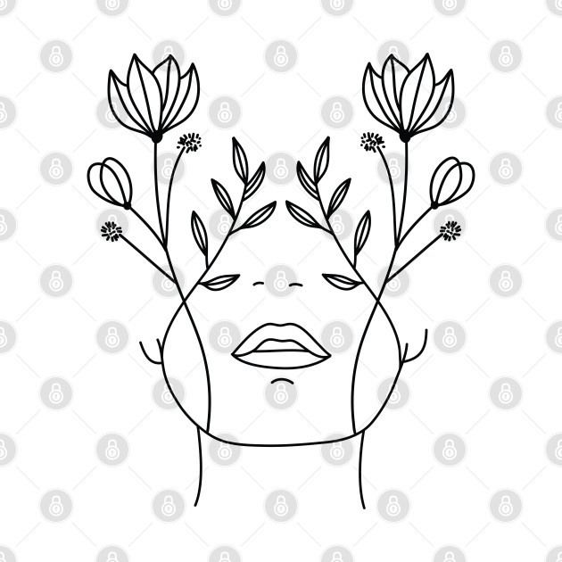 Flower Face Lady