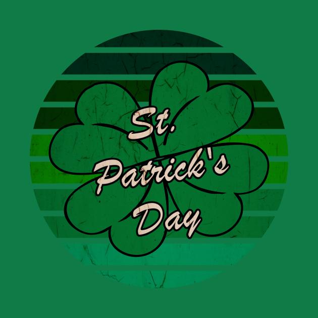 4 Leaf Clover Shamrock Retro St. Patrick's Day