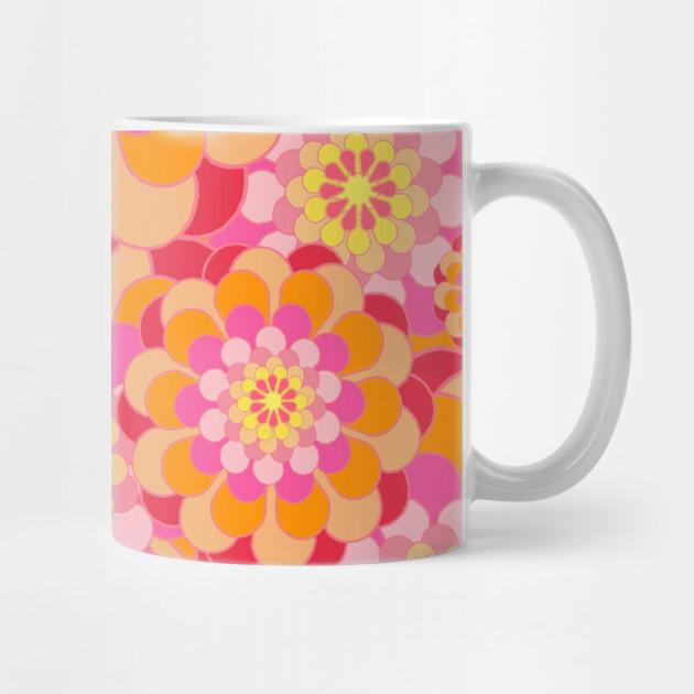 c567d3bdcdb Orange & Pink Floral Design by floralpatterns