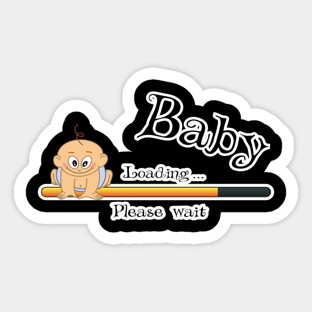 e24c890f Womens Baby Loading Pregnancy T-shirt, Baby Loading TShirt Pregnancy Shirt  Pregnancy Announcement T-Shirt New Baby Gift For New Mom Expectin Sticker