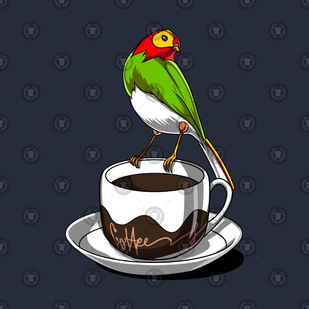 Cute Bird Parrot Coffee Lover Gift