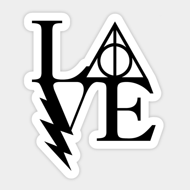 Download Love HP - Harry Potter - Pegatina | TeePublic MX