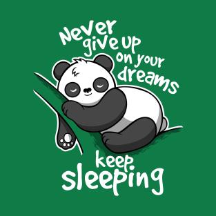 Panda keep sleeping t-shirts