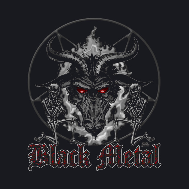 Black Metal Music Baphomet Pentagram