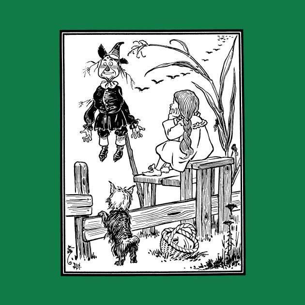 Vintage Wizard of Oz Dorothy Meets Scarecrow