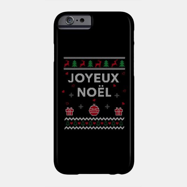 Merry Christmas French Ugly Christmas Gift Joyeux Noel Design Phone Case