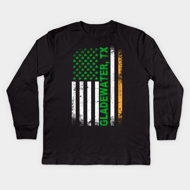 Texas - Irish American Flag Gladewater, TX T-Shirt