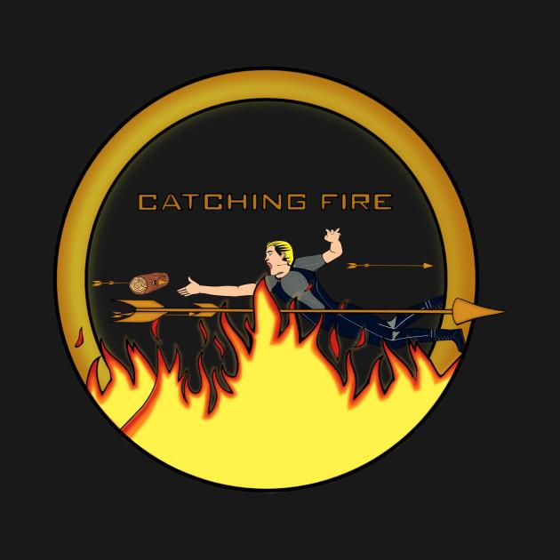 Catching Fire Hunger Games Onesie Teepublic
