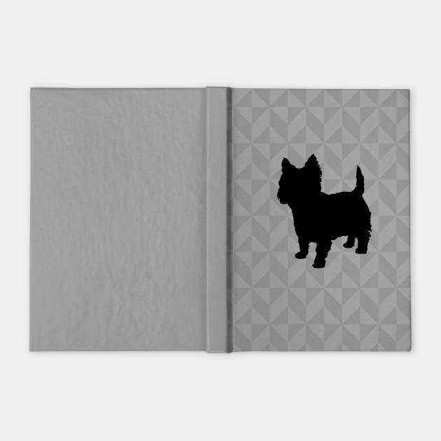 Cairn Terrier / Westie Dog Lover Gift - Scandi Geometric Silhouette