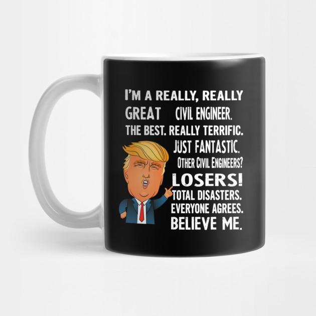 Mug Best Engineer Birthday Christmas Jobs ENGINEER Gift Funny Trump