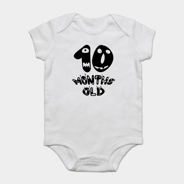 10th Month Old Birthday Onesies Infant Bodysuit Creepers, Diaper Shirts,  Babygro, Babygrow, ...