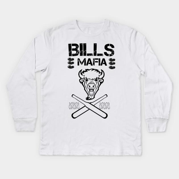 e701eee03 Black Bills Mafia Club - Bills Mafia - Kids Long Sleeve T-Shirt ...
